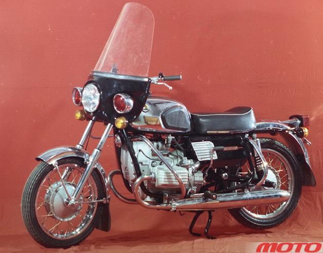 Один из первых вариантов мотоцикла «Днепр-14.9».