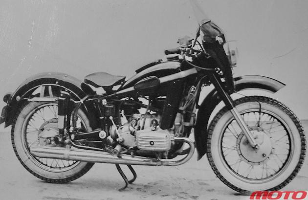 Экспериментальный мотоцикл К-750М с верхнеклапанным двигателем МТ-8, 1968 год.