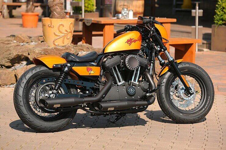 Harley- Davidson Sportster Orange Café Racer