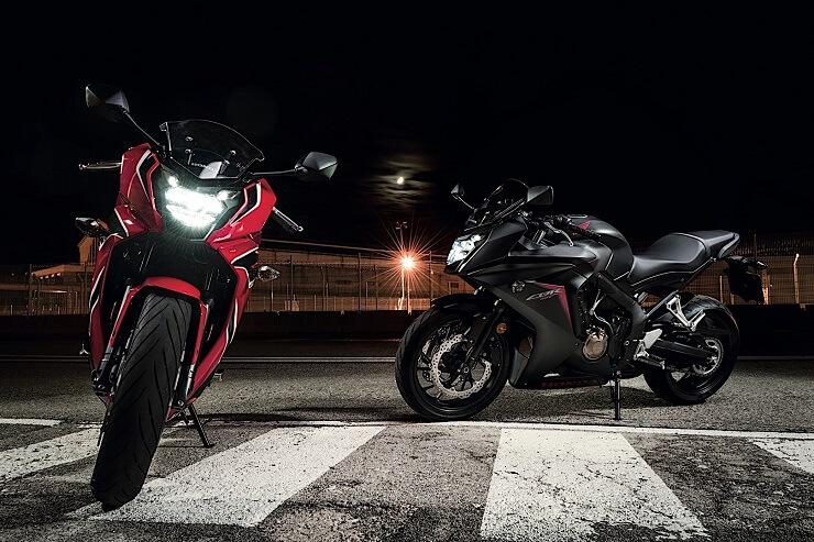 мотоциклы Honda CB650F и CBR650F 2018