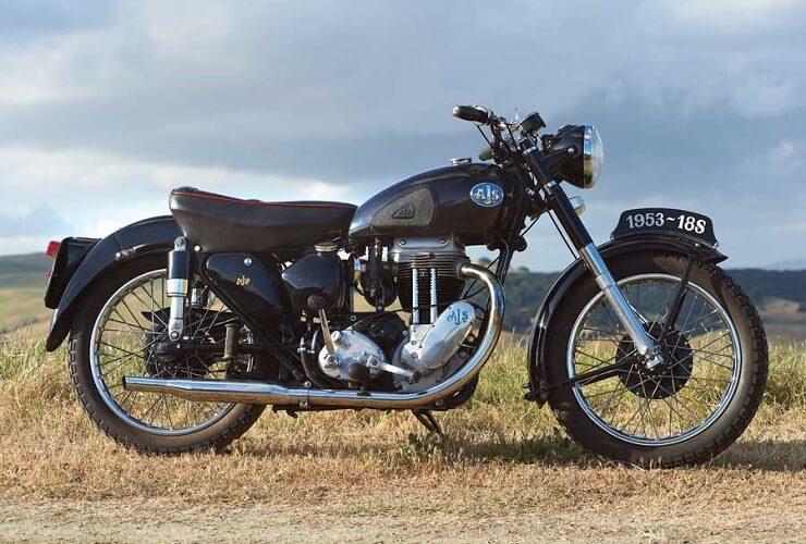 мотоцикл 1953 AJS 18S
