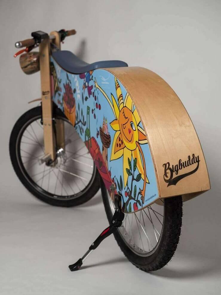 Big Buddy Bike — деревянный электровелосипед