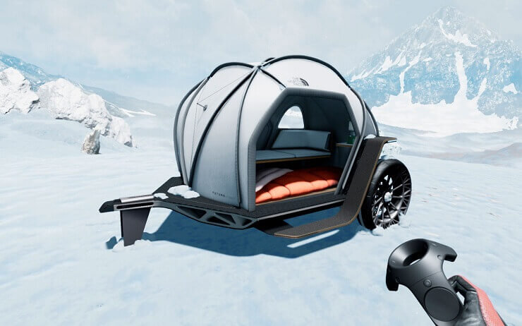 На выставке CES-2019 представлен концепт палатки на колесах