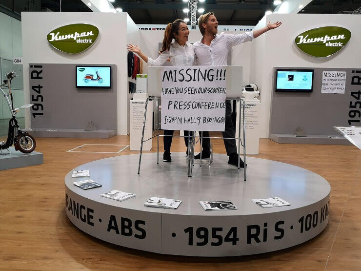 На выставке EICMA конфисковали электроскутеры из Германии